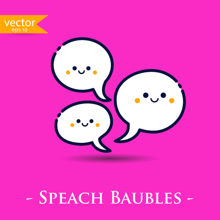 speach: Speach bubbles. Vector, illustration, eps10.