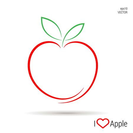 Een Apple-pictogramvector, illustratie eps10