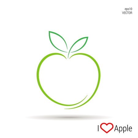 An Apple icon Vector, illustration eps10