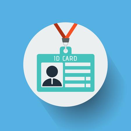 ID card icon vector illustration.