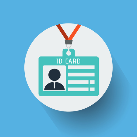 ID card icon vector illustration.