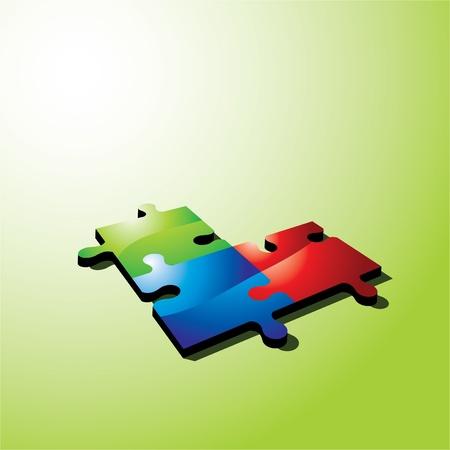 Color puzzle Stock Vector - 10575676