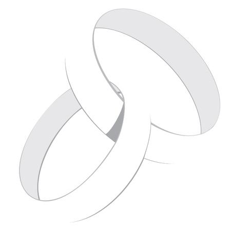anillos de boda: Los anillos de boda Vectores