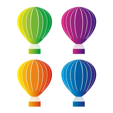 Color hot air balloon Illustration