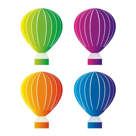 midair: Color hot air balloon Illustration