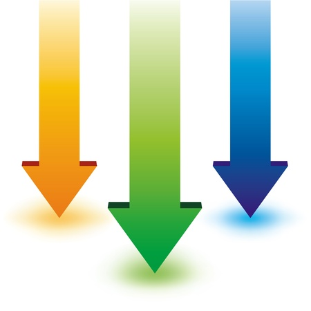 flecha azul: Flecha ?olorfull Vectores