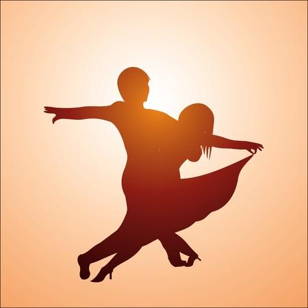 Ballroom dancers Vector
