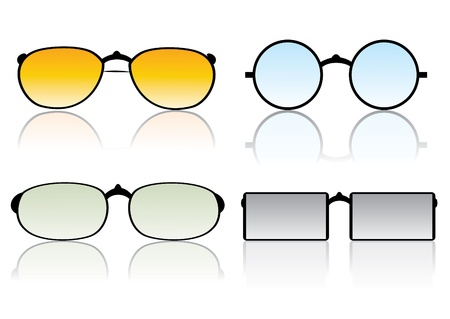 ocular: Glasses vector set