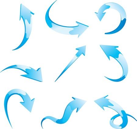 flecha azul: Conjunto de flechas