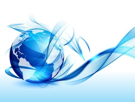 globo terraqueo: Arte mundial de fondo Vectores