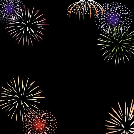 fireworks background: Vector fireworks