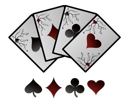 as de picas: Cartas vectoriales playing Vectores