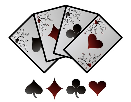 ace hearts: Vector playing cards