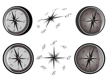 orthographic: Compasses Illustration