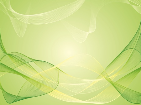 smooth curve design: Vector abstract green background  Illustration
