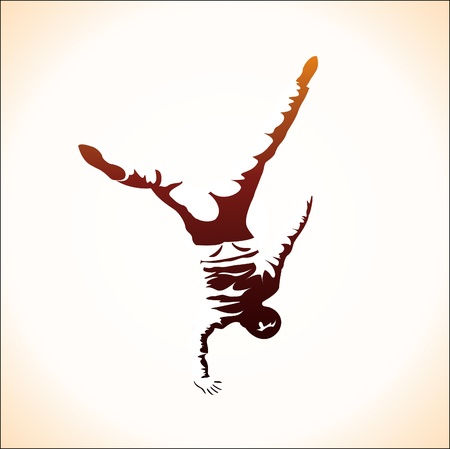 hip hop dance pose: Breakdance
