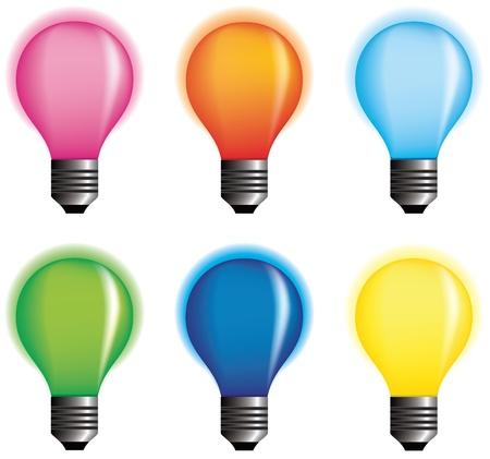 idea generation: Coloured bulbs