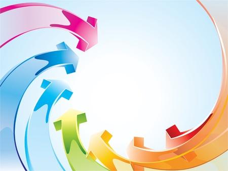 Hintergrund mit Regenbogen Pfeile