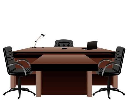 conference table: Director s office Illustration