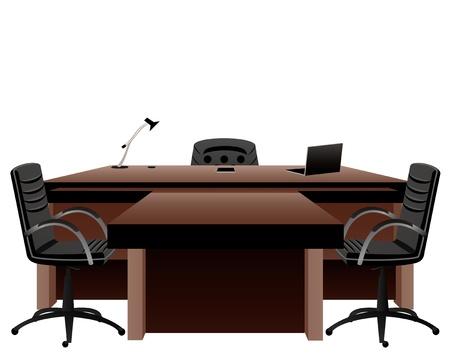 office furniture: Director s office Illustration