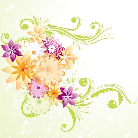 Floral design  8 eps  Vector