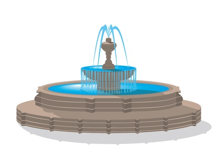 Fountain Stock Vector - 13327057