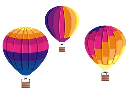 colored balloons: Hot Air Balloon