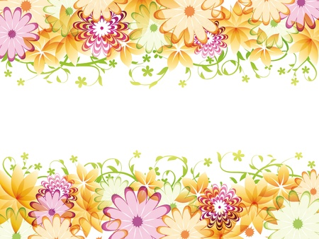 flowers horizontal: Floral background