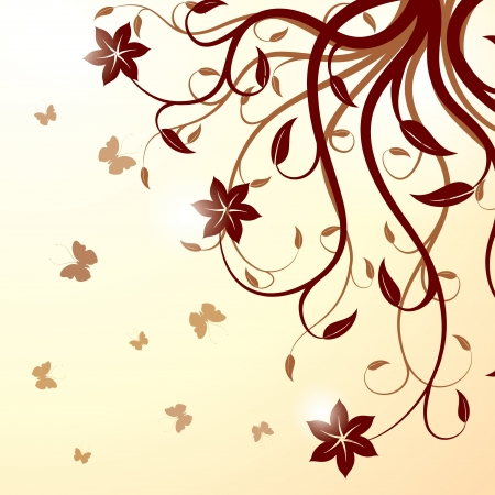 scroll shape: Floral background