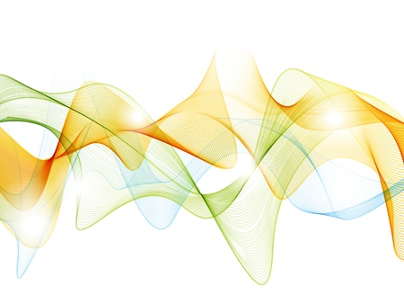 Graphic wave background Illustration