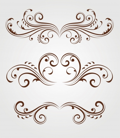 Floral design elements Vector