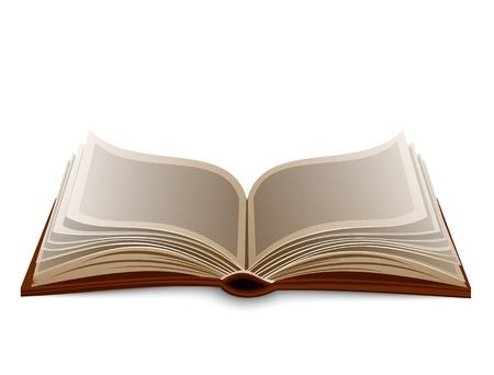 libros abiertos: Libro aislado