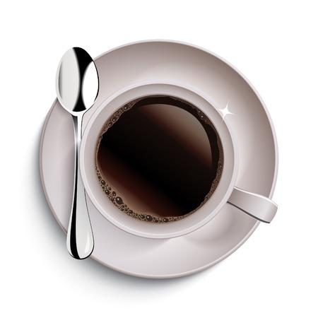 tazzina caff�: Tazza di caff� Vettoriali