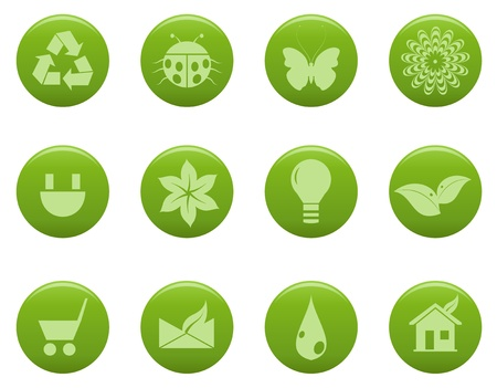 eco house: Eco icons Illustration