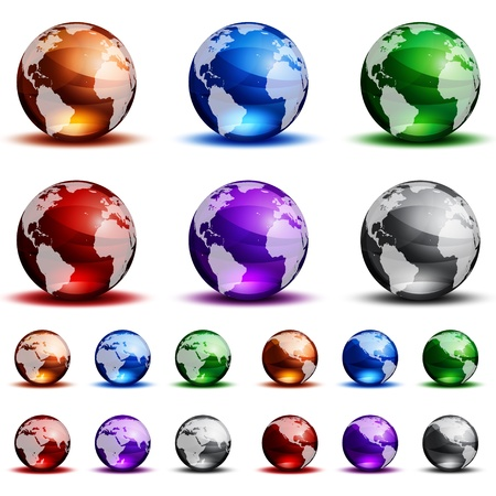 yellow earth: Globes