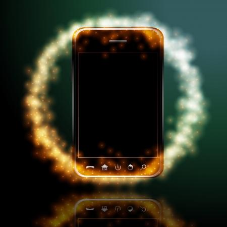 business tablet: Design mobile phone Illustration