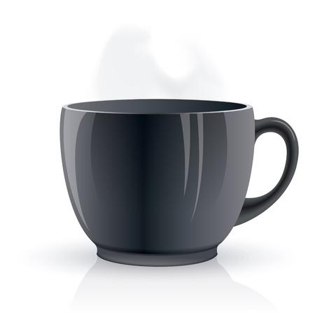Black hot tea cup Stock Vector - 14846382
