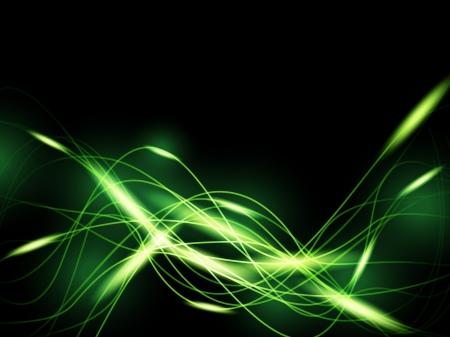 Green neon background Vector