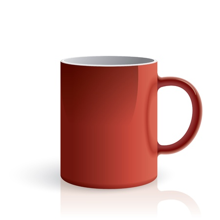 red cup: Red mug