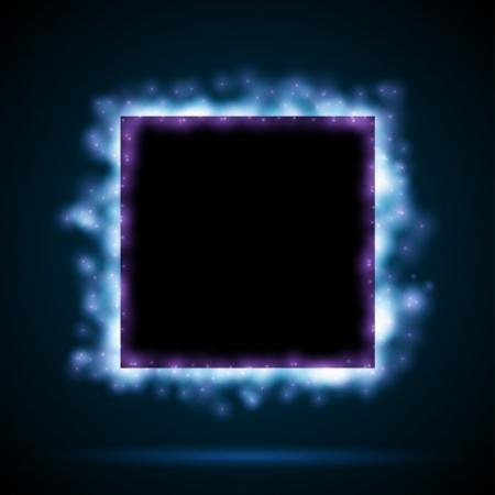 sfondo luci: Confine quadrato con luci blu