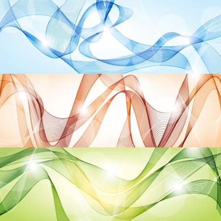 Vector set of abstract banners Stock Vector - 14979825