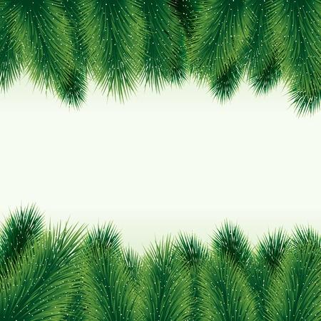 spruce tree: Decorative christmas tree background Illustration