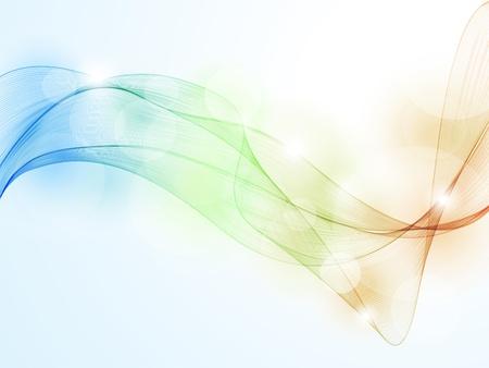 fumo blu: Colorful onda pattern di sfondo