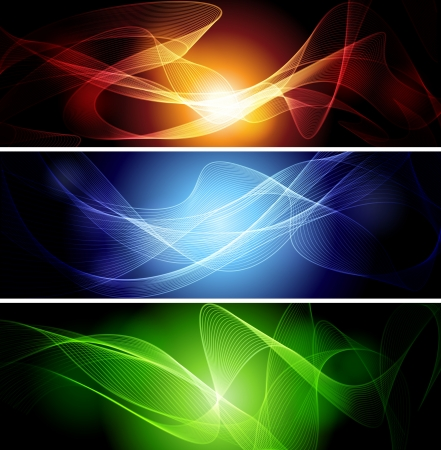 fumo blu: Set di bandiere astratte