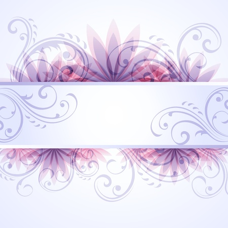 scroll border: Floral background