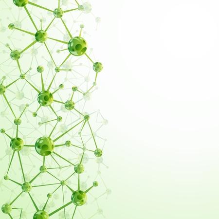 Molecules background Stock Vector - 14979841