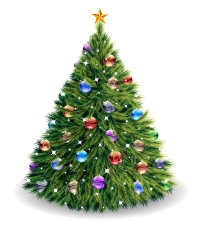 christmas holiday background: Christmas tree
