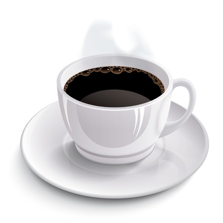 close up isolated: Cup of coffee