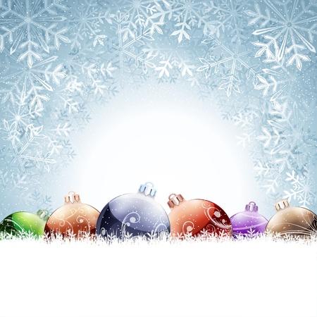 white background illustration: Christmas card