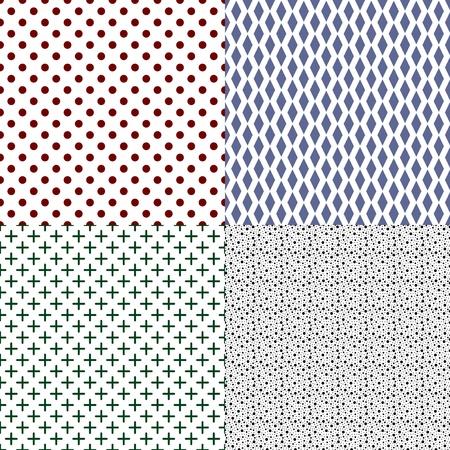 Vector set of seamless textures Vector